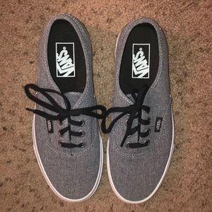 Grey and Black Vans